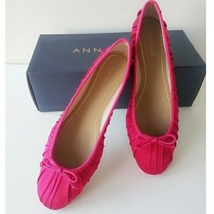 Ann Taylor Satin Emery Ballet Slipper Flat Shoes